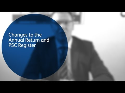 Changes to the Annual Return and PSC Register