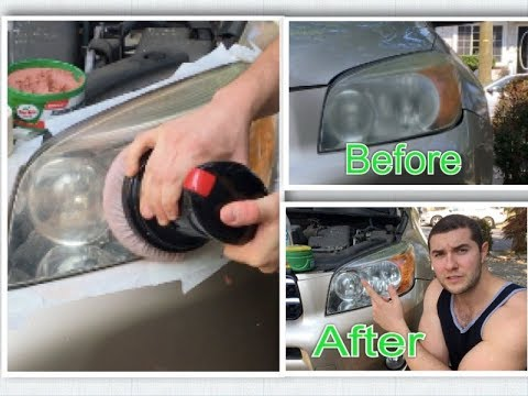 Headlight Restoration (quick-simple and Cheap method to Clean old yellow headlights)