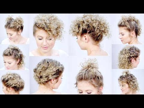 10 EASY HAIRSTYLES FOR SHORT HAIR with Curling Iron