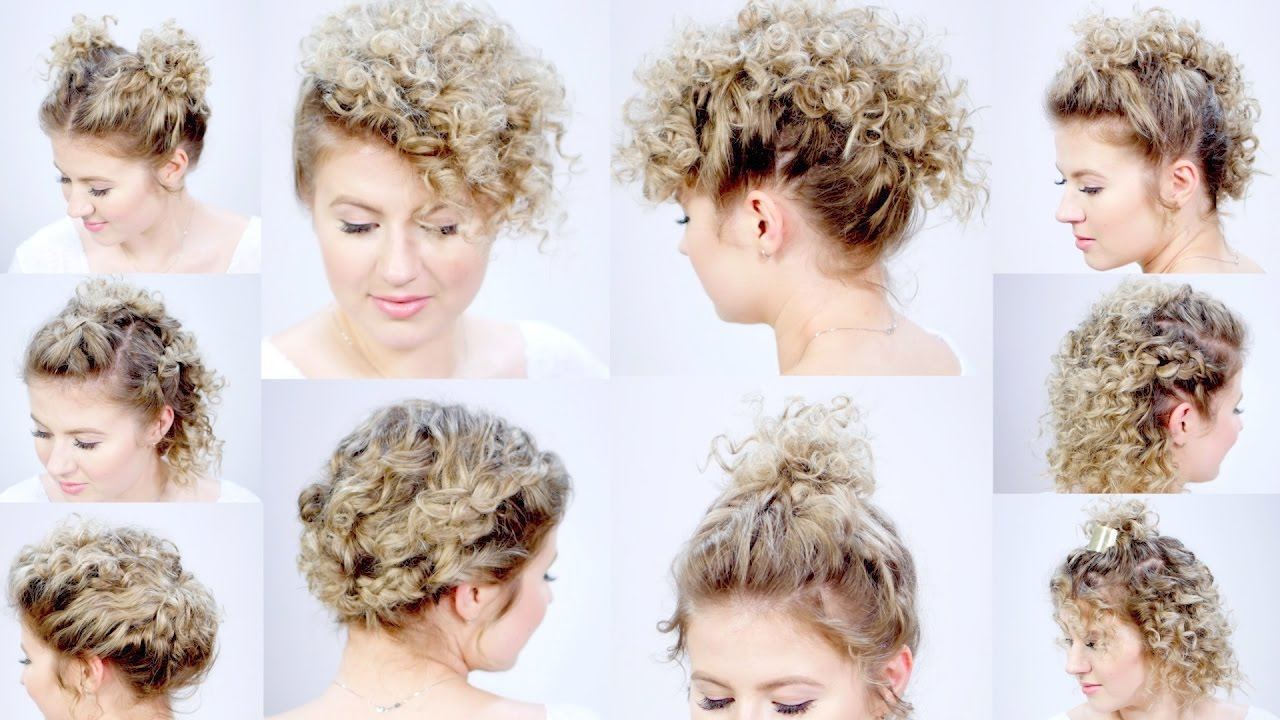 10 Easy Hairstyles For Short Hair With Curling Iron Milabu Youtube