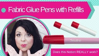 How to use Refilable Fabric Glue Pens - Does this Notion REALLY work? Sewing notions