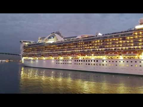 Cruise Ship exiting Port of Los Angeles