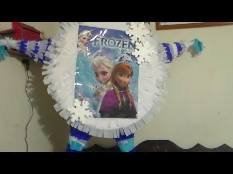 Piñata De Frozen. Paso A Paso Para Hacerla En La Casa