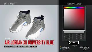 0594c0a036e40c NBA 2K19 Shoe Creator - Air Jordan 12