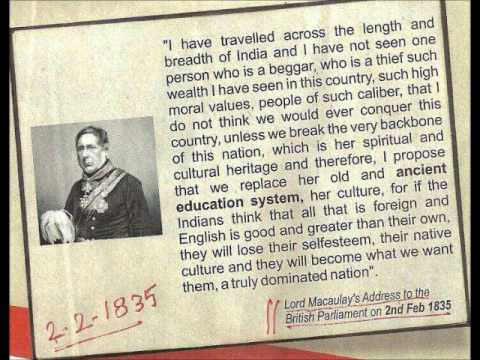 About India by Lord Macaulay