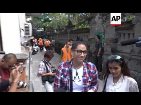 NZ woman arrives at Bali court for sentencing