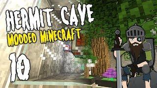 Hermit Cave: 10 | Base Progress! | Modded Minecraft
