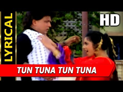 Tun Tuna Tun Tuna With Lyrics | Abhijeet, Poornima | Angaara 1996 Songs | Mithun Chakraborty
