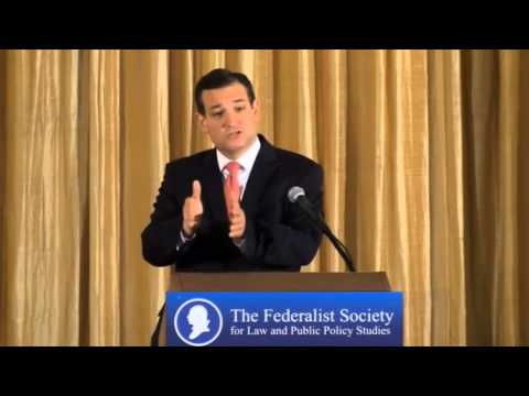 Sen. Ted Cruz Discusses the Obama Administration's Lawlessness with Federalist Society
