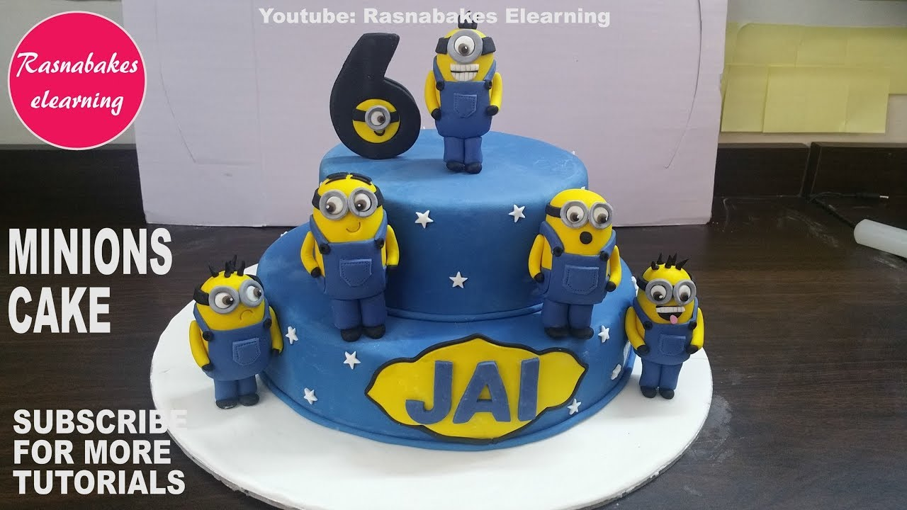 How To Make 3D Minion Fondant Cake DesignHappy Birthday Decorating Ideas Pics And Images