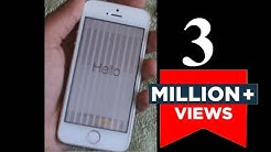 How to Fix Vertical Lines on iPhone 5S   Unresponsive Screen 5S   White & Black Lines