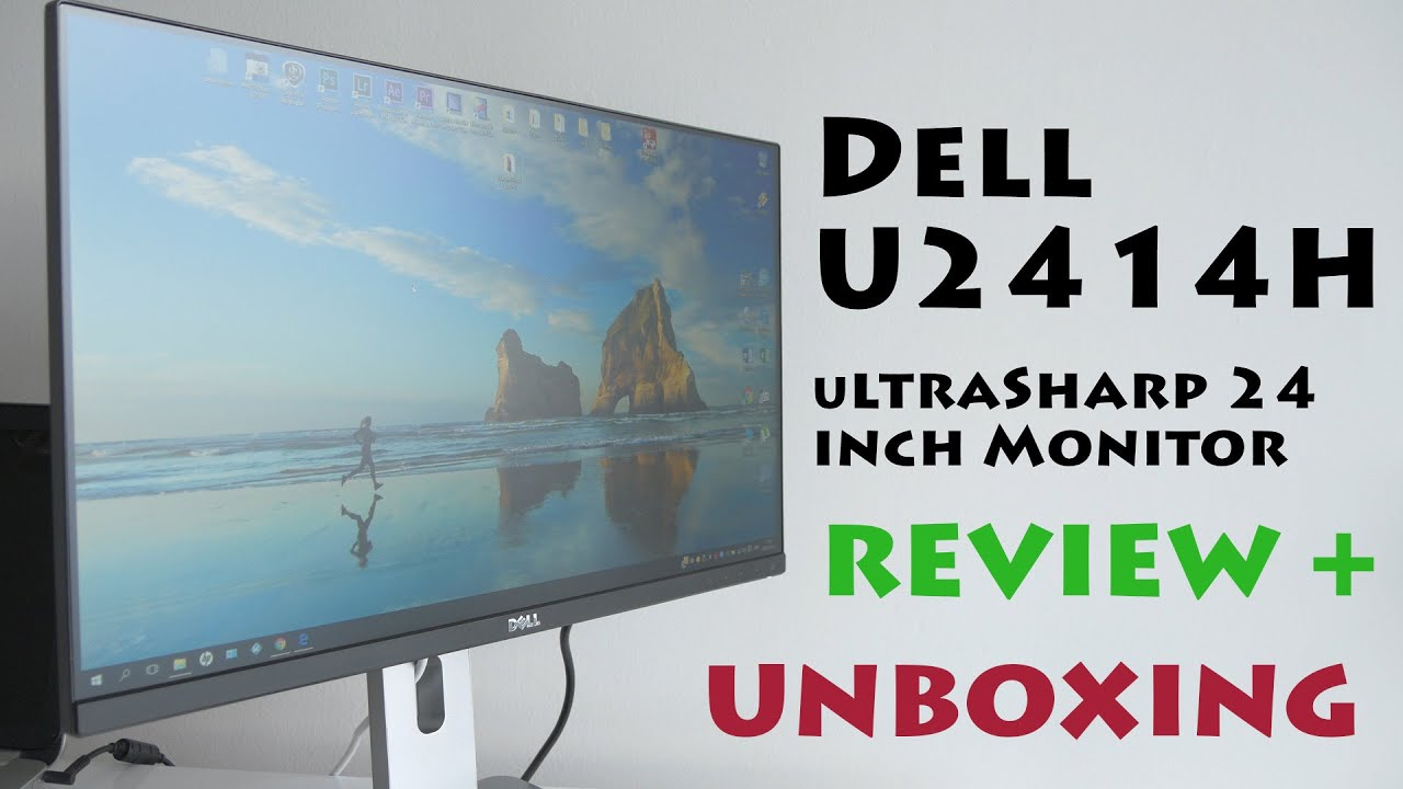 Dell UltraSharp 24 Monitor U2414H Full HD Unboxing and Review (4K)