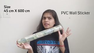 I have used PVC Sticker in Kitchen || WolTop Extra Large PVC Sticker review