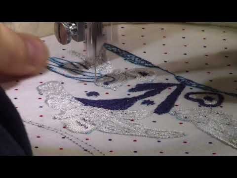 Free Motion Embroidery on Juki TL-2010Q