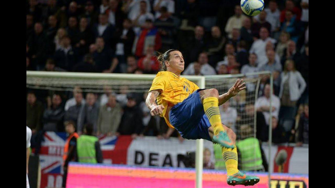 Ibra's Overhead Kick vs England!! - YouTube Zlatan Ibrahimovic Bicycle Kick