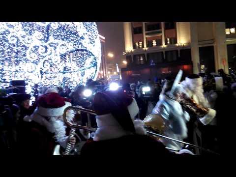 02 Valeriy Bukreev Santa Claus Jazz Band 2014 Moscow Mayor Sergei Sobyanin Opens a Christmas Fair at