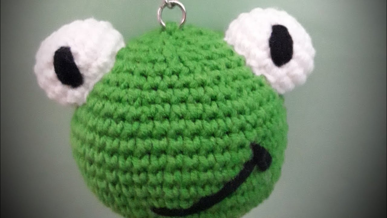 Amigurumi frog keychain/Amigurumi kurbağa anahtarlık nasıl yapılır
