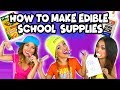 How to Make Edible School Supplies. Totally TV