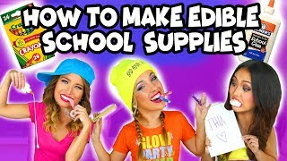 How to Make Edible School Supplies. Totally TV