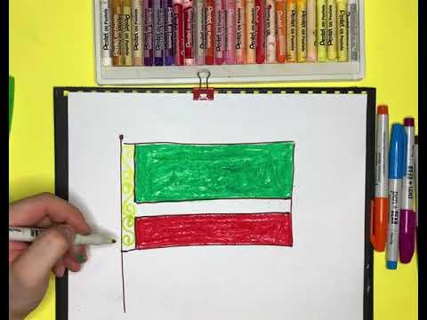 Как нарисовать флаг Чечни| Рисуем флаги России