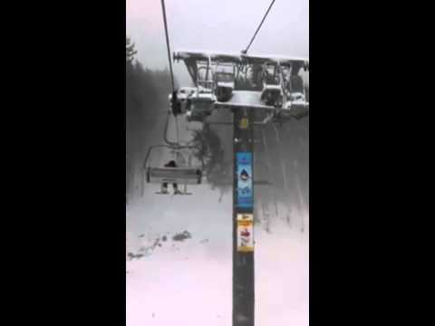 Thumbnail: Scary Ride On Ukrainian Ski Lift Video