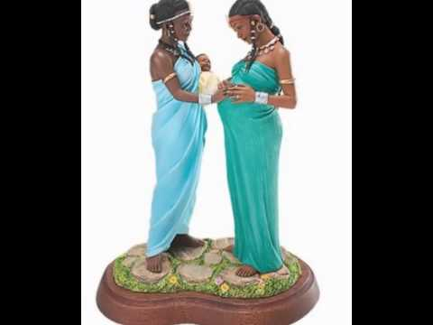 Thomas Blackshear-Ebony Visions -Sisters Forever In Motherhood-black Art-black Figurines-african Art