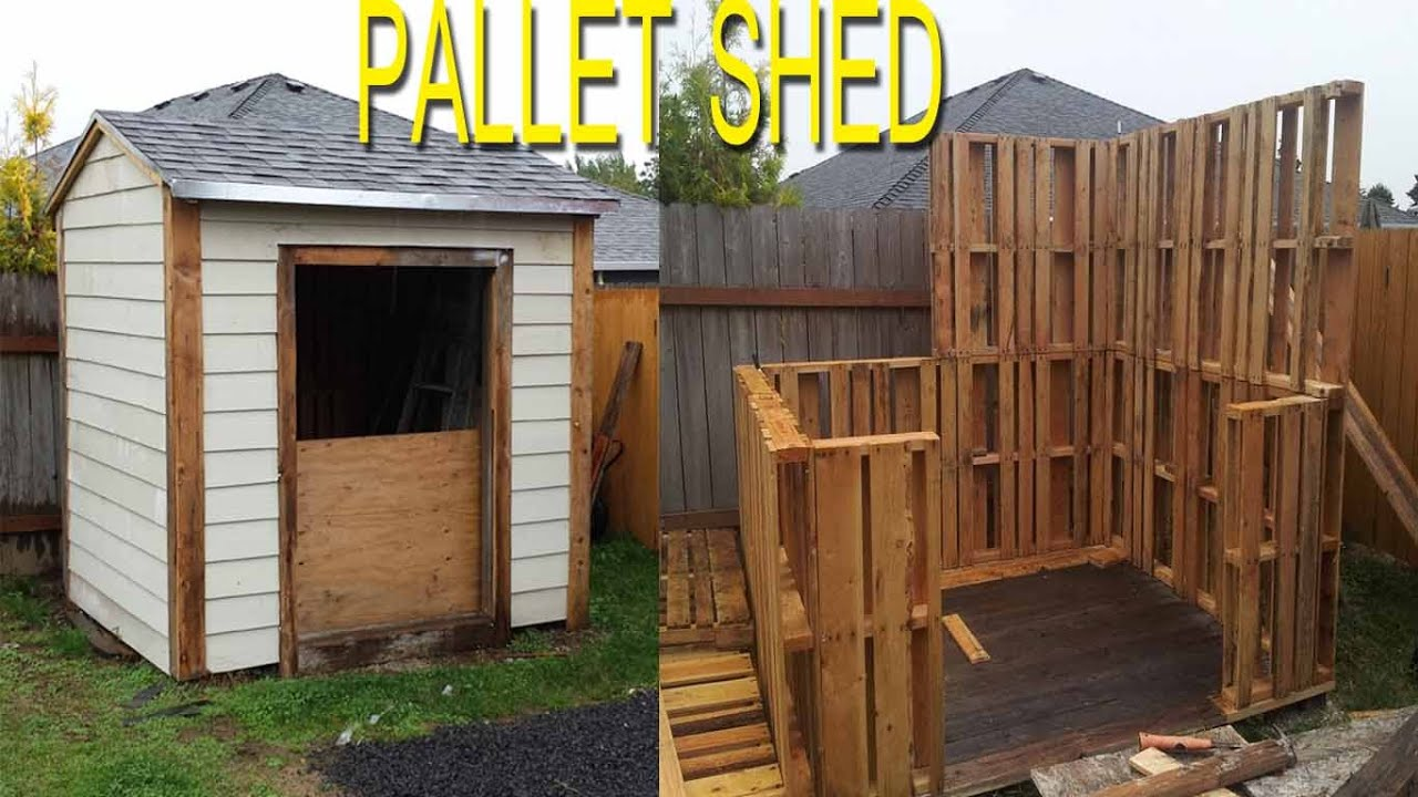 Shed Built With Free Pallets. check link in description ...