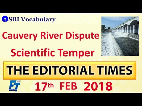 The Hindu | The Editorial Times | 17th Feb 2018 | UPSC | SSC | Bank