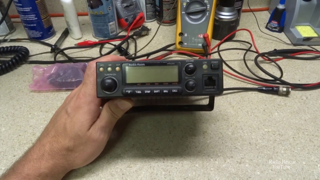 mic jack repair radio shack htx 212 2 meter ham radio [ 1280 x 720 Pixel ]