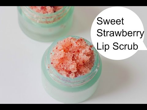 Making Strawberry Lip Scrub (DIY Saturday Episode 11 ) Strawberry Lip Scrub DIY