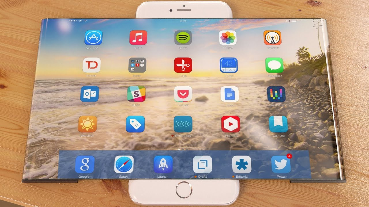 iPhone 7 Widescreen Concept - YouTube