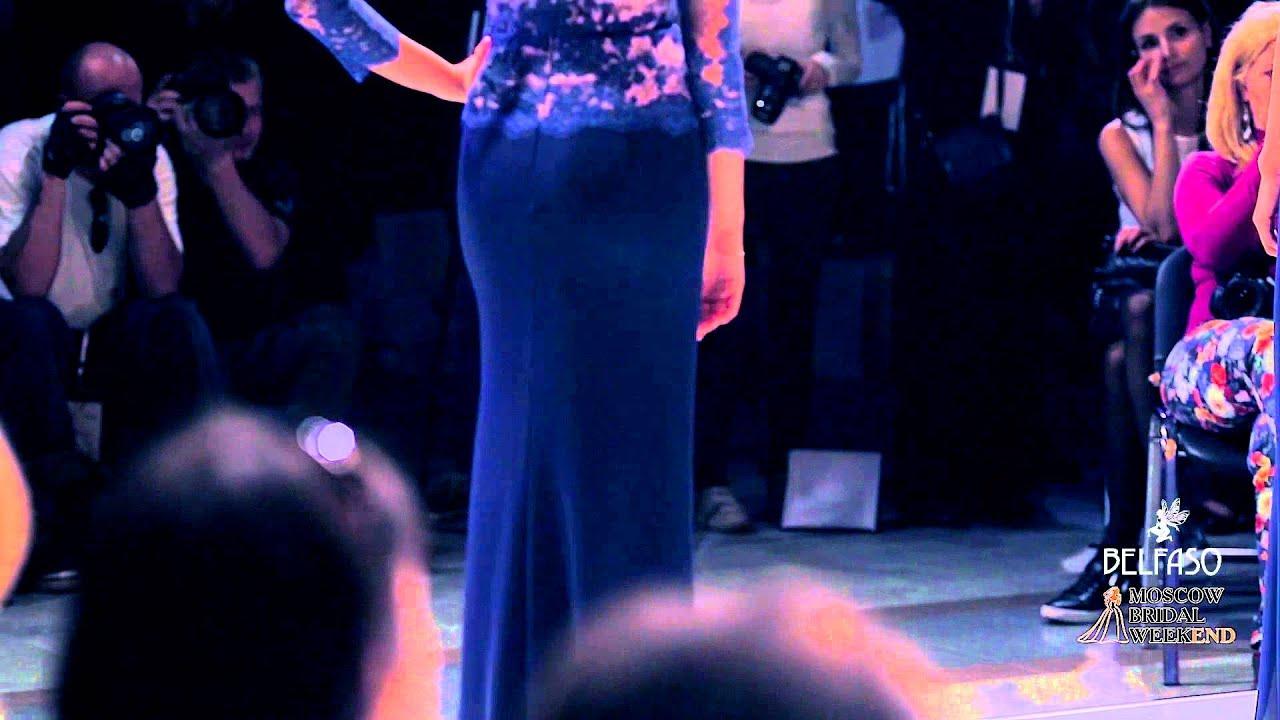 Вечернее платье Барбара шифон и Барбара креп (Дом моды BELFASO 2015)