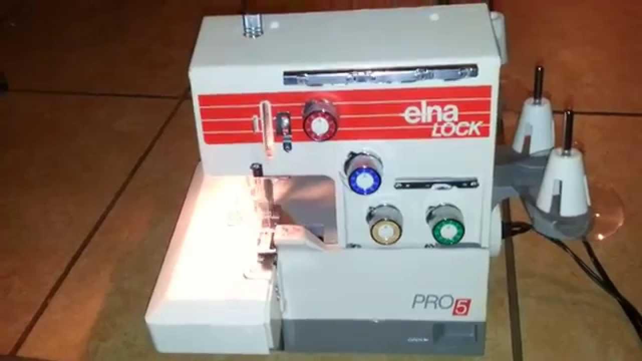 copy of elna lock pro5 type l5d serger sewing machine power on rh youtube com