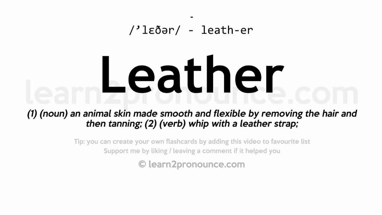 what is the meaning of leather