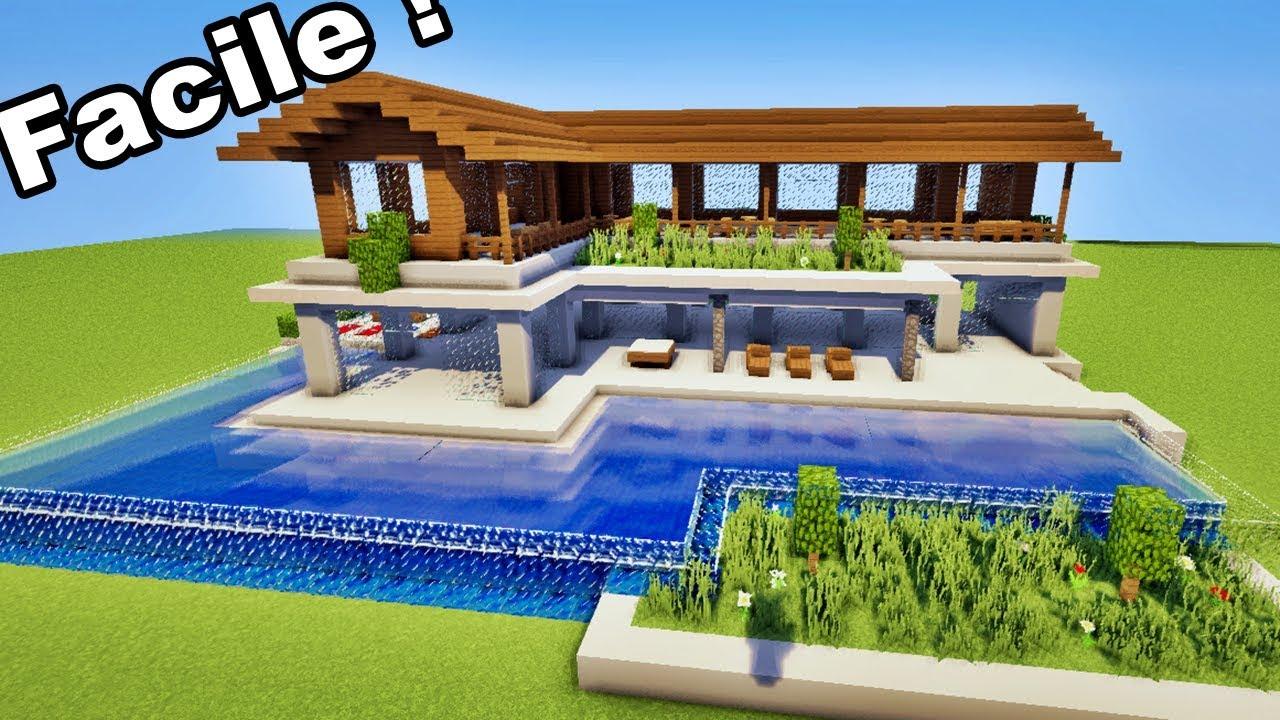 Minecraft Comment Faire Une Belle Maison De Luxe Facilement Tutoriel Youtube