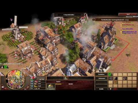 Age of Empires III Multiplayer - 2vs2 mit Vertrag #2 [Deutsch/Full HD]
