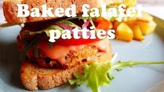 Baked Falafel Patties (vegan)
