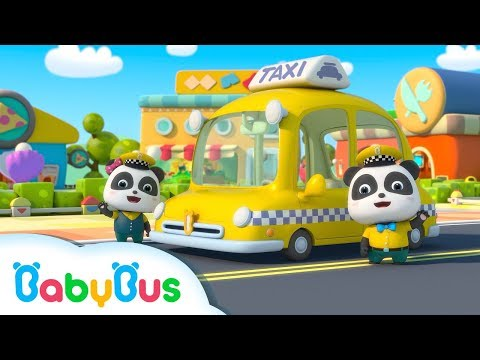 Thumbnail: Baby Panda Taxi Driver | Kids Occupation Pretend Play | Animation & Kids Songs | BabyBus