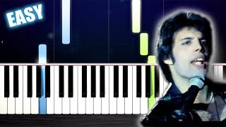 Baixar Queen - Don't Stop Me Now - EASY Piano Tutorial by PlutaX