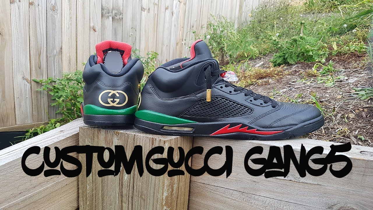 Custom Air Jordan 5 Gucci Gang5