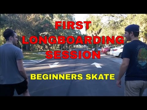 FIRST LONGBOARDING SESSION | BEGINNERS SKATE