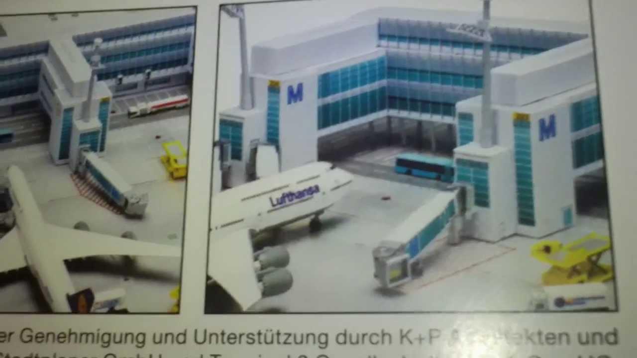 Episode 391 Herpa Scenix 518901 Munich Airport Terminal 2