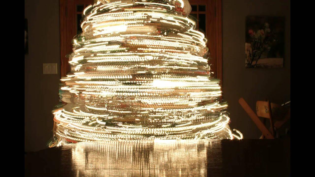 Spinning Christmas Tree Timelapse - YouTube