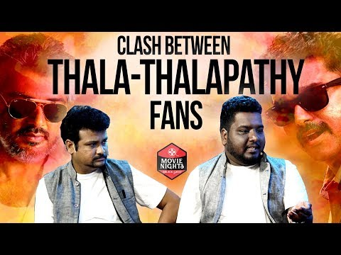 CLASHES BETWEEN THALA - THALAPATHY FANS |...