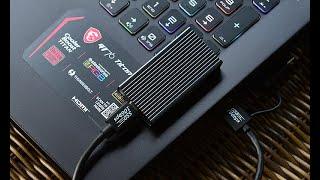 USB복사 10배 빨라지는 리뷰안 UX550 외장SSD