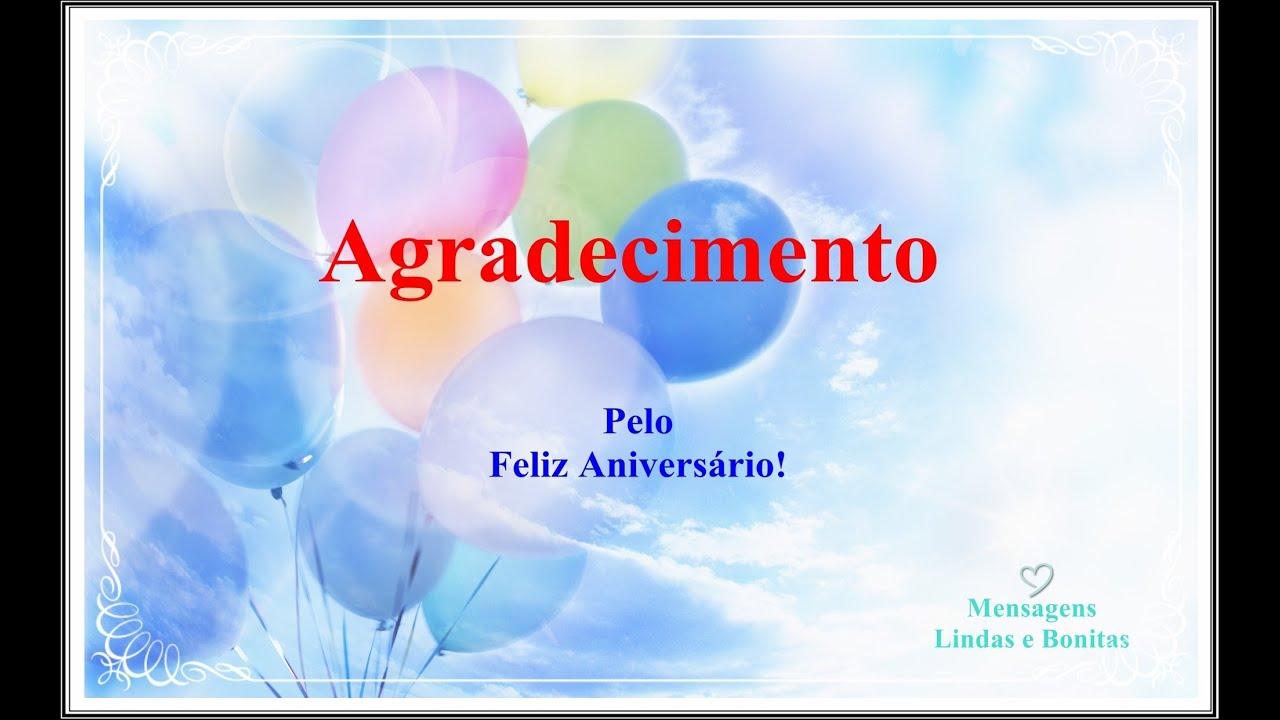 Agradecendo Pelo Feliz Aniversário
