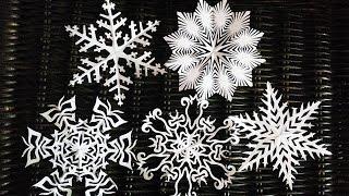 видео Шаблоны снежинок для вырезания