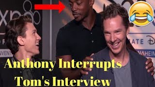 Tom Holland is a Terrible Liar & Anthony Mackie Interrupts the Interview - 2017
