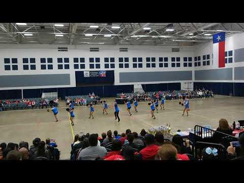 Port Isabel High School Silver Belles Team Pom at ADTS Competition 2018