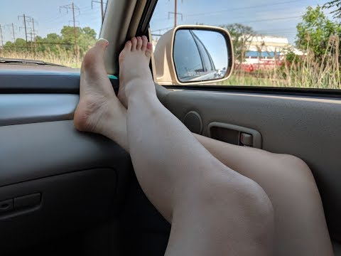 Taking off My Sweaty Feet in the Car